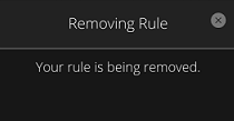 Image of Removing Rule confirmation