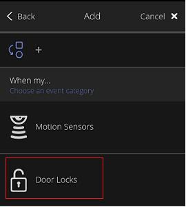 Add Rules. Mosaico Door Locks