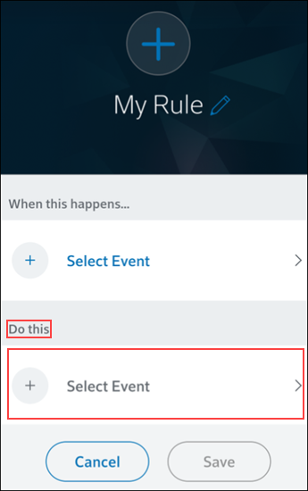 Image of select event option