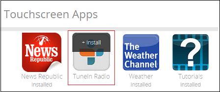 Subscriber Portal - Install Touchscreen App