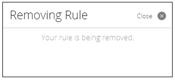 Image displays Removing Rule confirmation
