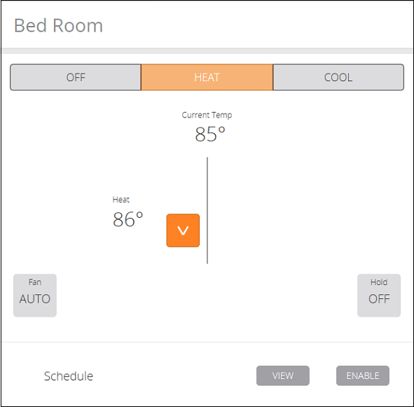 Thermostat Adjustments - Schedule View