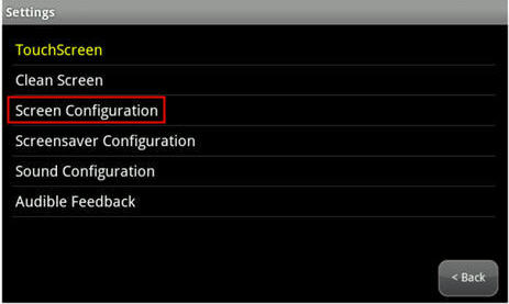 highlights Screen Configuration option