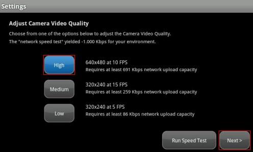 Ajustar la calidad de la videocámara