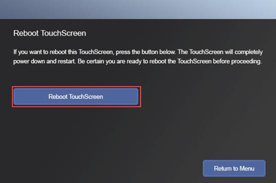 Botón Reboot Touchscreen