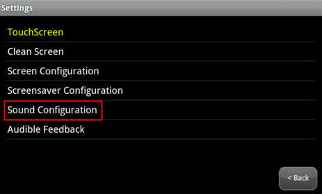 highlights Sound Configuration option