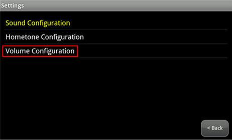 resalta la opción Volume Configuration