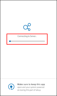 Image of Connecting to Server Progress Bar
