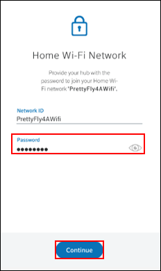 Image of Home Wi-Fi Network screen