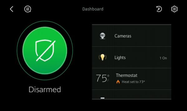 Image of Dashboard screen