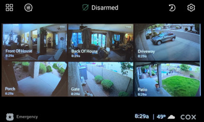 Image of Multiple Cameras home screen