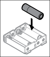 Image showing the new batteries being inserted