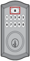 Imagen del botón de candado frontal Kwikset