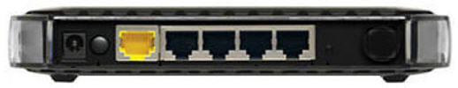 Back View of Netgear router