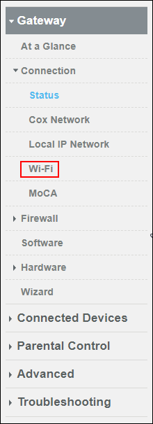 image of clicking wi-fi on left hand side of window
