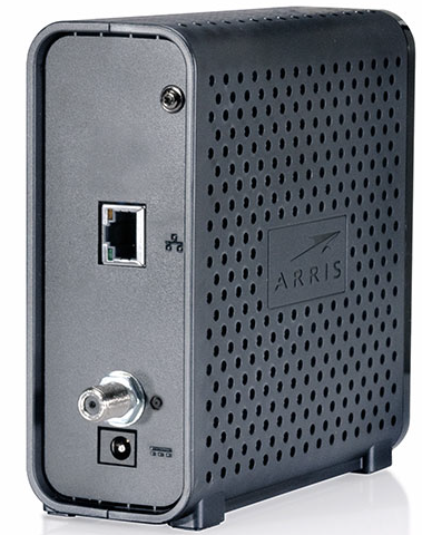 Back view of the modem