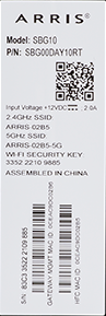 Image of MAC and WiFi label