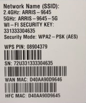 MAC and WiFi label