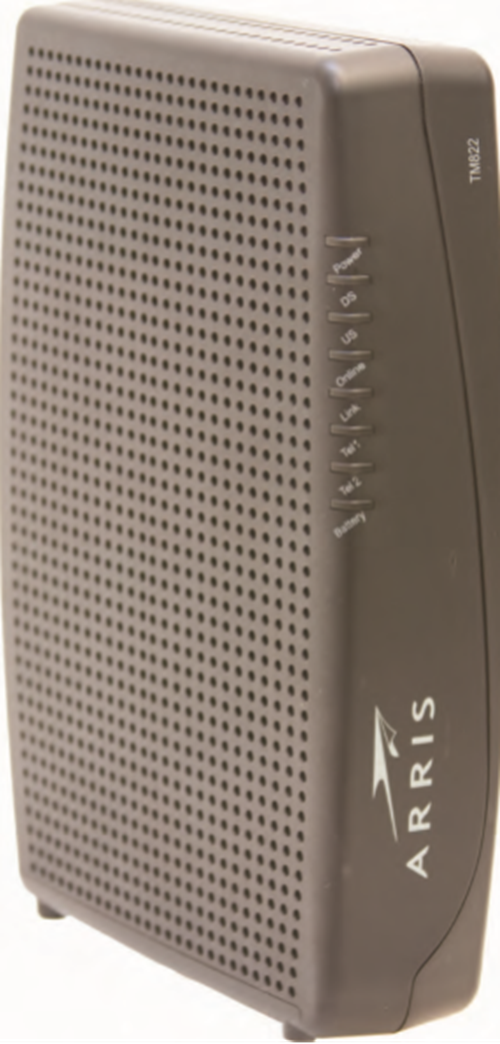 Image of Arris TM804 Front View