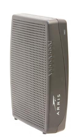 image of front of ARRIS TM822 modem