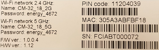 MAC Address of Asus CM32