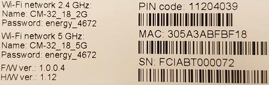 Dirección MAC deAsus CM32