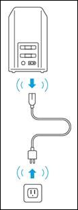 image of unplugging the power cord from the modem and outlet