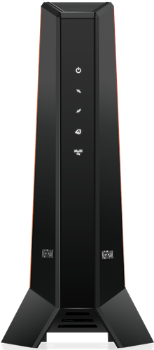 Image of front view of Netgear CM2000 modem