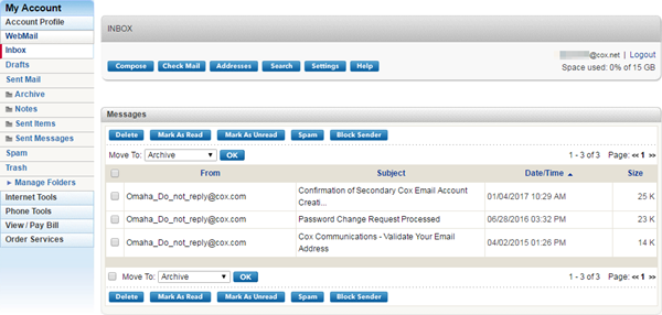 Managing Email Messages In Classic WebMail