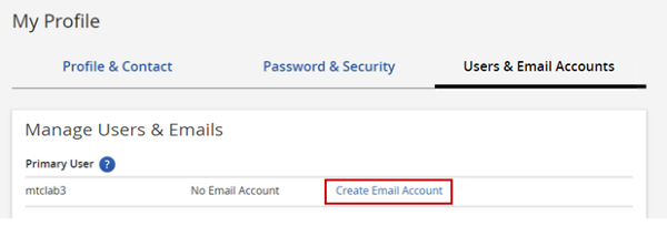 Create Email Account Link
