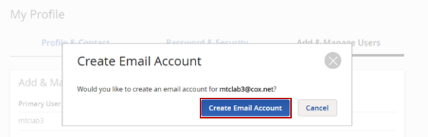 Create Email Confirmation