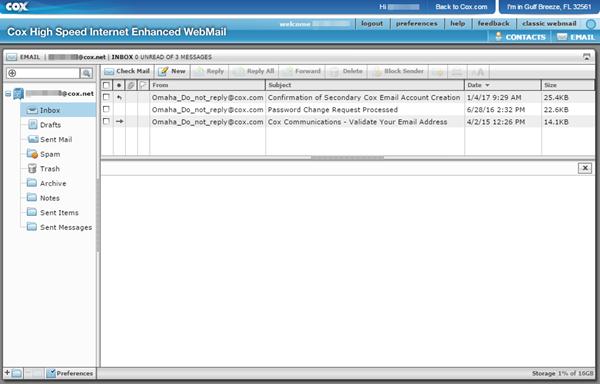 Enhanced WebMail Inbox