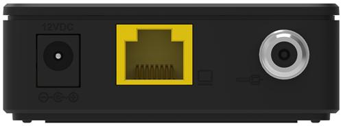 Vista trasera del módem Linksys CM3008