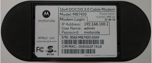 Dirección MAC de MB7420