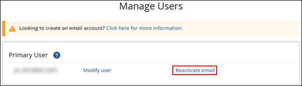 image of reactivate email link