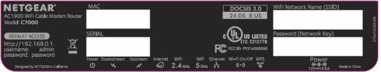 imagen de la etiqueta del C7000 MAC