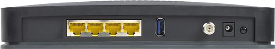 Back view of modem
