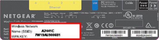 imagen de la etiqueta con la dirección MAC