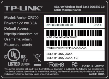image of the MAC and WiFi label