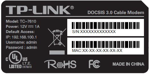 TP-LINK TC-7610