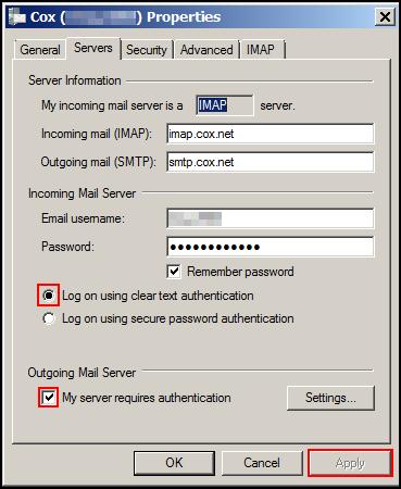 update port settings