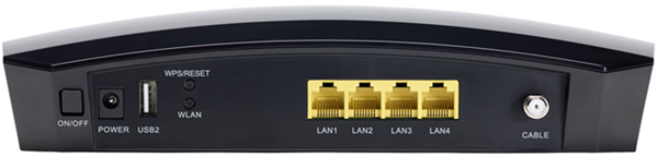 image of the Back View of Zoom 5354 modem