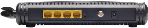 Back View of Zoom 5360 modem