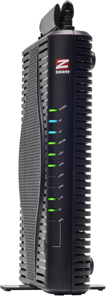 Vista frontal del módem Zoom 5360