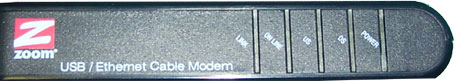 Front View of Zoom 5241 modem