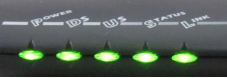 Modem lights