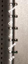 Arris//Motorola WBM760 modem lights