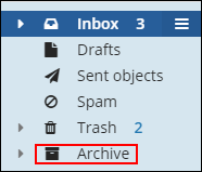image of clicking the archive folder