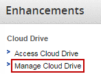 manage cloud drive, highlighted
