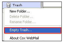 empty trash option